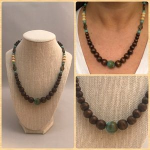 Jewelry - Handmade wooden bead necklace